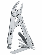 Leatherman Crunch Multi-tool with Stainless Steel Finish and Leather, Nylon, or MOLLE Sheath in Box Packaging