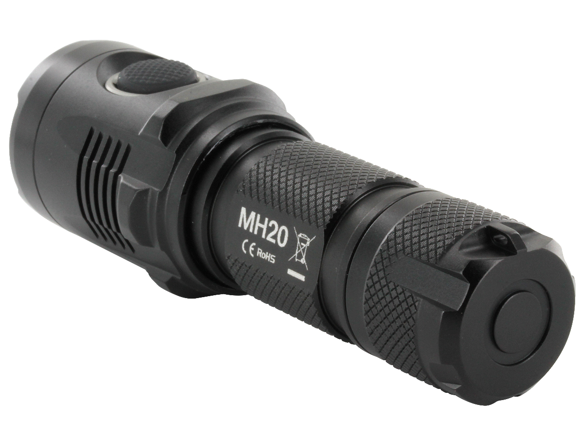 Close-Up of Nitecore MH20's Tailcap With Tail Stand Capability