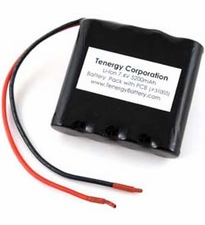 Tenergy 7.4V 5200mAh Side By Side Li-Ion Battery Pack with PCB and 20AWG Bare Leads (31005)