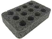 Pre-Cut Foam Insert  for the Pelican 1010 - Hold 12 CR123A Batteries