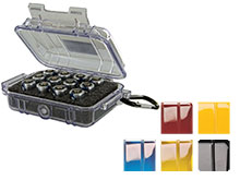 COMBO KIT: Pelican 1010 Watertight Case / 12 Rayovac CR123A's / Pre-Cut Foam Insert