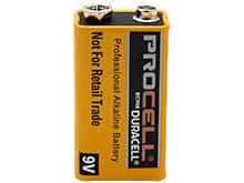 Duracell Procell PC1604 9V Alkaline Battery with Snap Connectors - Contractor Pack, Priced Per Cell