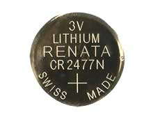 Renata CR2477-SC 950mAh 3V Lithium Primary (LiMNO2) Coin Cell Battery - 1 Piece Retail Card, Sold Individually