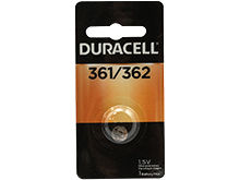Duracell D361/362 1.5V Silver Oxide Watch/Electronic Button Cell Battery - 1pk (D361-362PK)