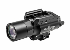 SureFire X400U-A-RD Ultra LED Weapon Light with 5mW Red Laser Sight - Universal and Picatinny Rail Mounts Fit Handguns, Long Guns - 600 Lumens - Includes 2 x CR123As