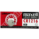 Maxell CR1216 25mAh 3V Lithium (LiMNO2) Coin Cell Battery - 1 Piece Tear Strip, Sold Individually