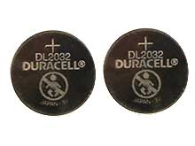 Duracell Duralock DL CR2032 (2PK) 225mAh 3V Lithium (LiMNO2) Watch/Electronic Coin Cell Batteries - 2 Piece Retail Card