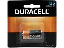 Duracell Ultra DL123A CR123A 1470mAh 3V Lithium (LiMNO2) Button Top Photo Battery - 1 Piece Retail Card