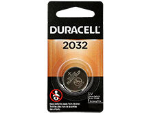 Duracell Duralock DL CR2032 225mAh 3V Lithium (LiMNO2) Watch/Electronic Coin Cell Battery - 1 Piece Retail Card