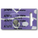 Exell A76PX LR44 1.5V Alkaline Coin Cell Battery for Calculators, Scales - Replaces Energizer A76