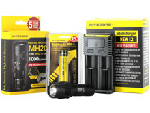 Nitecore MH20 Rechargeable Flashlight Combo - CREE XM-L2 (U2) LED -1000 Lumens - With Battery and Charger