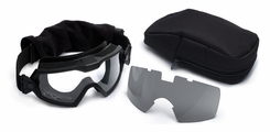 Smith Optics - Outside The Wire Goggles w/ Turbo Fan - Black Frames with Clear Lenses Installed - Gray Spare Lenses - Field Kit