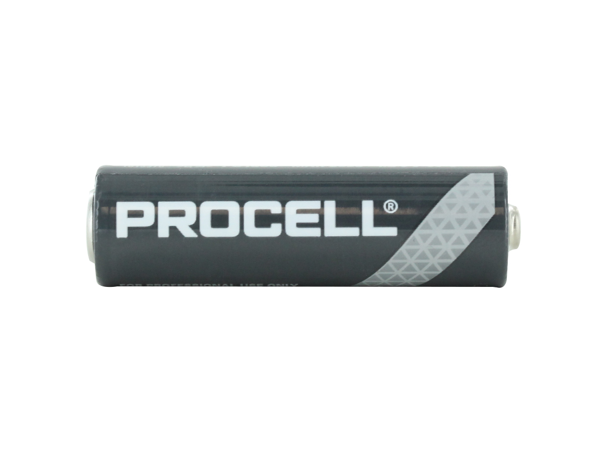 Duracell Procell AA battery side angle