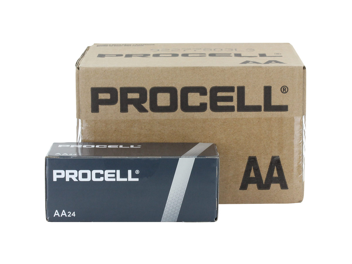 Shipping container for Duracell Procell AA batteries