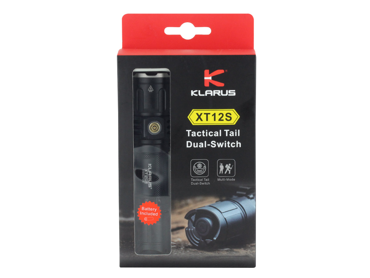 Package Shot of the Klarus XT12S Rechargeable LED Flashlight