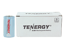 Tenergy 10100 D-cell (8PK) 10000mAh 1.2V Nickel Metal Hydride (NiMH) Button Top Batteries - Pack of 8