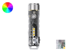 RovyVon Aurora A8X Mini Keychain Rechargeable LED Flashlight - CREE XP-G3 or Nichia 219C - Includes Built-In Li-ion Battery Pack