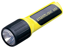 Streamlight 4AA ProPolymer Xenon HAZ-LO Safety-Rated Polymer Flashlight - 34 Lumens - Class I Div 1 - Uses 4 x AAs - Yellow, Boxed