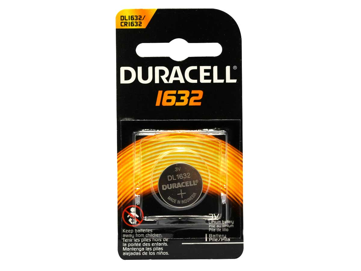 Duracell CR1632 coin cell blister retail card