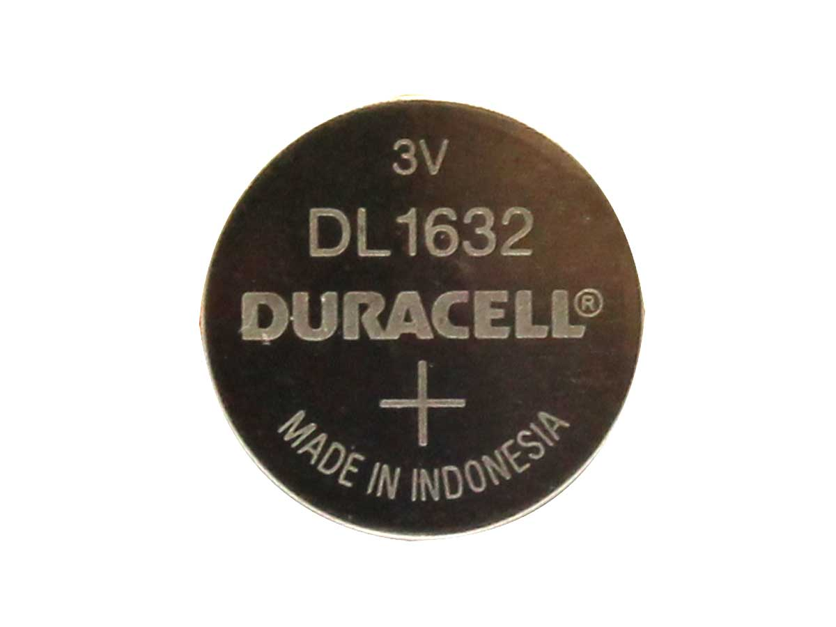 Duracell CR1632 coin cell by itself, no retail packaging