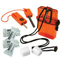 Ultimate Survival Technologies Fire Starter Kit 1.0 - Includes Fire Starter, Tinder and Protective Case - Orange (20-729-01)