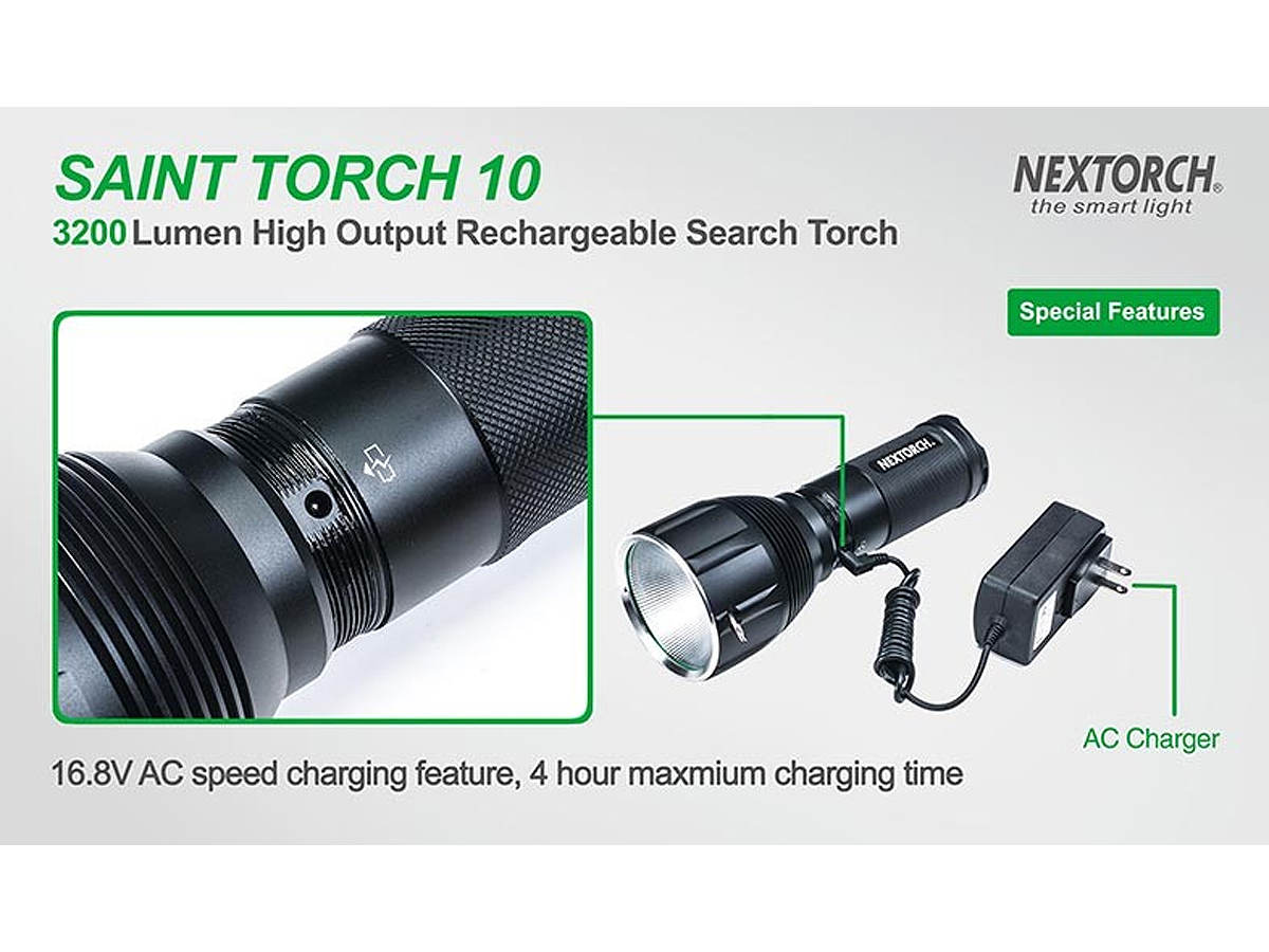 Slide about the charging port for the Nextorch Saint Torch 10