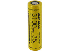 Nitecore IMR 18650 3100mAh 3.7V Unprotected High-Drain 35A Lithium Manganese (LiMn2O4) Flat Top Battery - Boxed