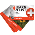 Ultimate Survival Technologies Learn and Live Pocket Guide - First Aid - 10 Instructive Cards for Health Emergency Situations (20-02730)