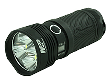 Smith and Wesson Duty Series - Night Terror - FS RXP Rechargeable LED Flashlight - CREE XHP70.2 LED - 12500 Lumens - Includes 4 x 18650
