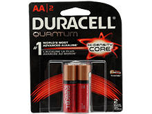 Duracell Quantum QU1500-B2Z10 AA 1.5V Alkaline Button Top Batteries - 2 Piece Retail Card