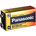 Panasonic Industrial 6LF22XWA 9V (210PK) Alkaline Battery with Snap Connector - Shrink Wrapped Cells - Case of 210 Cells