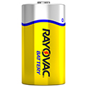 Rayovac 6D-BULKF D 1.5V Zinc Chloride (ZnCl) Button Top Battery - Bulk