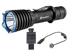 BUNDLE: Olight Warrior X Rechargeable Tactical LED Flashlight - CREE XHP35 NW - 2000 Lumens - Includes 1 x 18650, 1 x E-WM25 and 1 x RWX