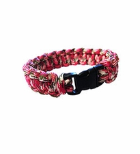 Ultimate Survival Technologies Survival Bracelet - 7-inch Wrist Band with Nylon Buckle - 8 Feet of Paracord - Pink Camo (20-295B7-36)