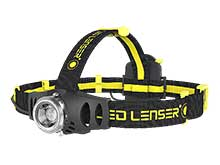 Ledlenser 880388 iH6R Rechargeable LED Headlamp - 200 Lumens - Includes 3 x AAA NiMh - Box - Black and Yellow