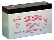 Enersys NP12-6 12Ah 6V Rechargeable Sealed Lead Acid (SLA) Battery - F2 Terminal
