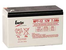 Enersys NP7-12TFR 7Ah 12V Rechargeable Flame Resistant Sealed Lead Acid (SLA) Battery - F1 Terminal