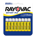 Rayovac 3AAA-8CTF (4PK) AAA 320mAh 1.5V Zinc Chloride (ZnCl) Button Top Battery - 8 Pack Retail Card