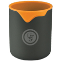 Ultimate Survival Technologies Double Up Cup - 3.5 x 3-inch Aluminum Camping Mug with Removable Silicone Lining - Orange (20-CKT0048-08)