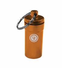 Ultimate Survival Technologies B.A.S.E. Case 0.5 Capsule - 3 x 0.8-inch Aluminum Storage Canister with Screw-Top Cap - Orange (20-205-458-08)
