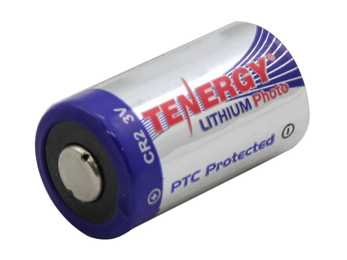 Tenergy CR2 Lithium Photo Battery Angle view
