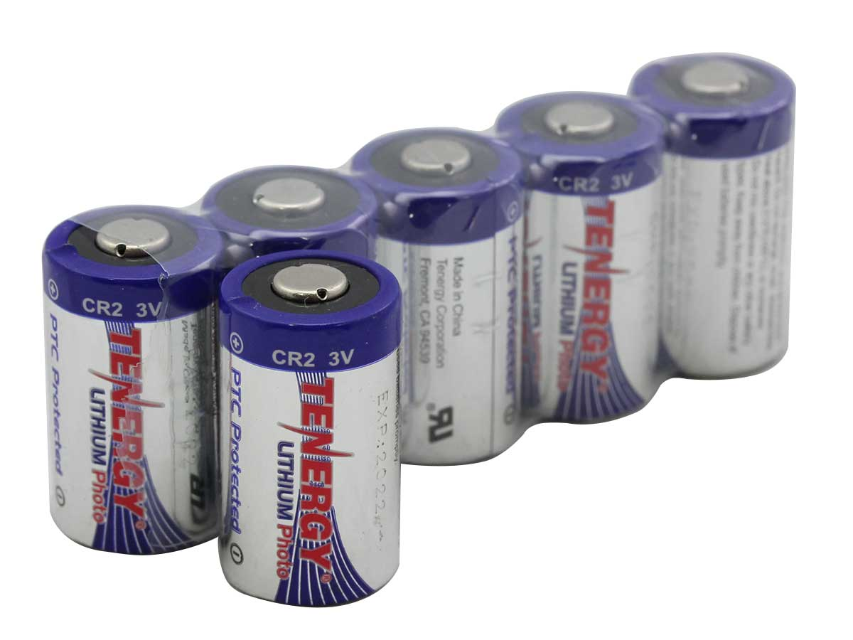 Tenergy CR2 Lithium Photo Battery shrink pack