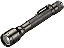 Streamlight Jr. F-Stop LED Flashlight - 250 Lumens - Spot to Flood - Includes 2 x AA Alkaline  - Boxed (71701) or Clamshell (71700)