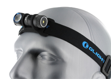 Olight H1R Rechargeable Right Angle Headlamp - CREE XM-L2 LED - Cool White - 600 Lumens - Includes 1 x 16340