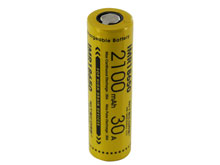 Nitecore IMR 18650 2100mAh 3.7V Unprotected High-Drain 30A Lithium Manganese (LiMn2O4) Flat Top Battery - Boxed