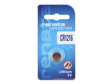 Renata CR1216-SC 25mAh 3V Lithium Primary (LiMNO2) Coin Cell Battery - 1 Piece Retail Card