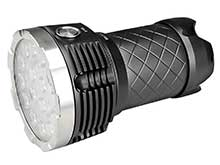 MecArmy PT60 Ultra Bright Rechargeable Flashlight - 16x CREE XP-G2 LEDs - 9600 Lumens - Includes 4 x 18650 Battery Pack