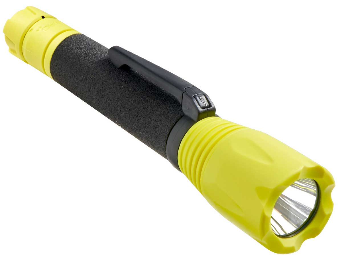 Yellow bodied LED flashlight