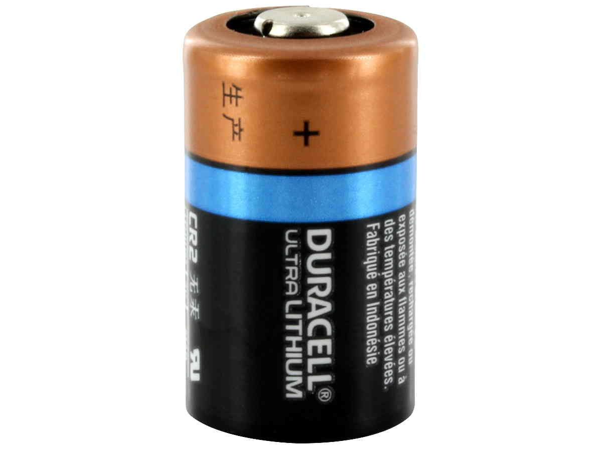 Duracell Ultra CR2 battery upright