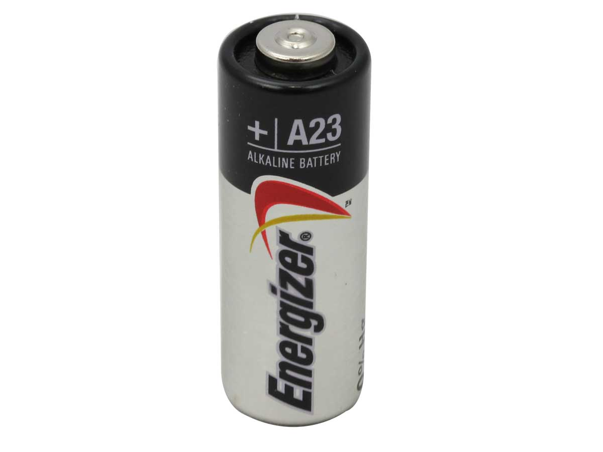 Energizer A23 battery upright